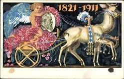 Ganzsachen Künstler Ak Diez, Prinzregent Luitpold von Bayern, 1821 bis 1911