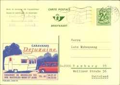 Ganzsachen Ak Belgien, Caravanes Dejuzaine, Belgique, Wohnmobil