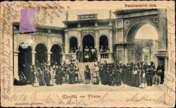 Ganzsachen Ak Christus vor Pilatus, Passionsspiele 1900, GS PP15 C29 09a