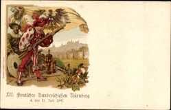 Ganzsachen Litho Nürnberg, XII. Deutsches Bundesschießen 1897, PP7 C1