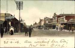 Postcard Pretoria Südafrika, Church Street East, Straßenpartie, Geschäfte, Passanten