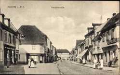 Postcard Mutzig Bas Rhin, Blick in die Hauptstraße, Gasthof zur Post, Auffinger