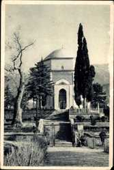 Postcard Bursa Türkei, The Green Mausoleum, Treppe, Kuppeldach, Eingang