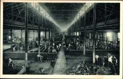 Postcard Wittenberge in der Prignitz, Singer Nähmaschinen, Gießerei