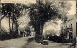 Postcard Neu Fahrland Potsdam in Brandenburg, Straßenpartie, Wohnhäuser