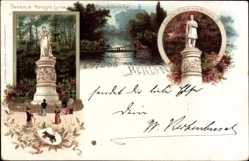 Wappen Litho Berlin Tiergarten, Denkmal Friedrich Wilhelm III, Königin Luise