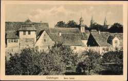 Postcard Öhringen im Hohenlohekreis, Partie beim Spital, Kirchturm, Häuser
