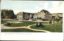 Postcard Holzminden im Weserbergland, Landschulheim am Solling, Gartenanlage