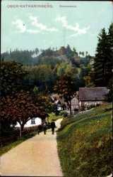 Ak Ober Katharinberg, Drachenstein, Jäger mit seinem Jagdhund, Herbst