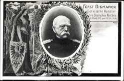 Passepartout Ak Fürst Otto von Bismarck, Eiserner Kanzler, 1815 bis 1898