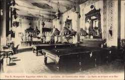 Postcard Kairo Ägypten, Grand Continental Hotel, G. Nungovich Hotels, Billardtisch
