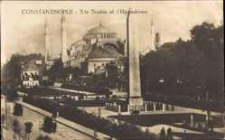 Foto Ak Konstantinopel Istanbul Türkei,Ste. Sophie et l'Hippodrome, Hagia Sophia