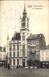 Postcard Charleroi Wallonien Hennegau, Le Télégraphe, Telegraphenamt