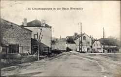 Postcard Montmédy Meuse, Die Umgebungsbahn, Gebäude, Gleise, Platz