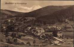 Ak Jagniątków Agnetendorf Hirschberg Schlesien, Totalansicht, Ort