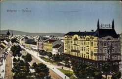 Postcard Belgrad Serbien, Terasia, Terrassen, Gebäude, Allee