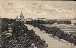 Postcard Mława Mielau Polen, Aleja, Allee, Kirche, Platz