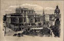 Postcard Stockholm Schweden, Kungl. Operan och Jakobs kyrka