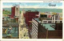 Postcard Cleveland Ohio USA, Euclid Avenue, looking east