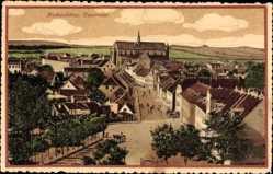 Postcard Haderslev Hadersleben Dänemark, Panorama, Platz, Kirche
