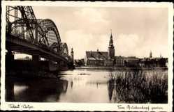 Ak Tilsit Sowetsk Kaliningrad Ostpreußen, Blick vom Brückenkopf aus