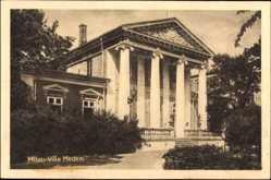 Postcard Jelgava Mitau Lettland, Blick auf die Villa Medem, Säulen, Eingang