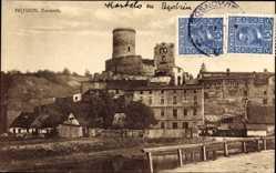 Postcard Będzin Bendzin Bendsburg Schlesien, Zamek, Schloss