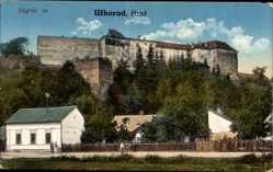 Postcard Uzhorod Uschhorod Ukraine, Hrad, Ansicht der Burg