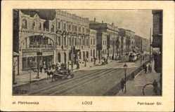 Postcard Łódź Lodsch Polen, Petrikauer Straße, Ulica Piotrkowska