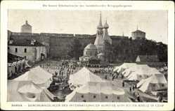 Postcard Narva Narwa Estland, Durchgangslager, Internationales Komitee, Rotes Kreuz