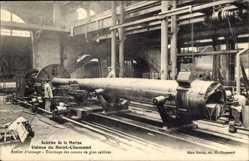 Ak Saint Chamond Loire, Aciéries de la Marine, Tournage des canons