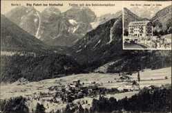 Postcard Telfes Tirol Österreich, Die Fahrt ins Stubaital, Schlickerspitzen, Hotel