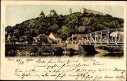 Postcard Gars am Kamp Niederösterreich, Burgruine Gars, Brücke