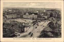 Postcard Jelgava Mitau Lettland, Marktplatz mit Totalansicht