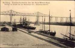 Postcard Rendsburg in Schleswig Holstein, Eisenbahnhochbrücke, Kaiser Wilhelm Kanal