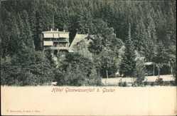 Postcard Goslar in Niedersachsen, Hotel Gosewasserfall am Wald