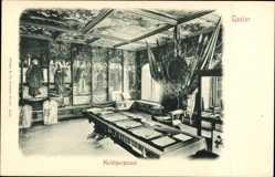 Ak Goslar in Niedersachsen, Der Huldigungssaal im Rathaus