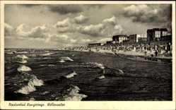 Postcard Wangerooge in Friesland, Nordseebad, Wellenreiter, Strandpartie