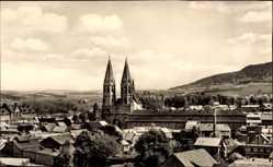 Postcard Heilbad Heiligenstadt in Thüringen, Blick über die Dächer auf die Kirche