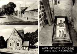 Postcard Neustadt Dosse Kampehl in Brandenburg, Wehrkirche,Leichnam Ritter v. Kahlbutz