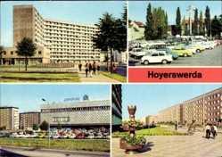 Postcard Hoyerswerda in der Oberlausitz, Wojerecy, Wilh. Pieck Str., Zentrum Warenhaus