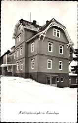 Postcard Braunlage im Oberharz, Müttergenesungsheim, Bodestraße 6, Winter