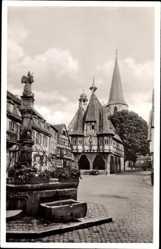 Postcard Michelstadt im Odenwaldkreis Südhessen, Rathaus aus dem Jahr 1484