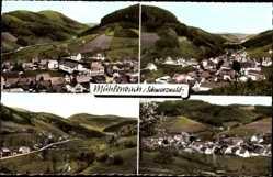 Postcard Mühlenbach Schwarzwald, Totalansicht der Ortschaft