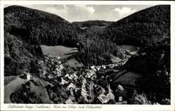 Postcard Zorge im Kreis Osterode im Harz, Blick ins Silber und Elsbachtal