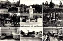 Postcard Bad Bramstedt im Kreis Segeberg, Markt, Rathaus, Kurhaus