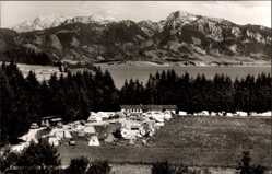 Postcard Roßhaupten Schwaben, Forggensee, Campingplatz