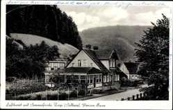Postcard Zorge im Kreis Osterode im Harz, Ansicht der Pension Busse