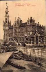 Postcard Antwerpen Flandern, Le Pilotage, Het Loodshuis