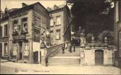 Postcard ArlonArel Wallonien Luxemburg, Calvaire Saint Donat, Freitreppe